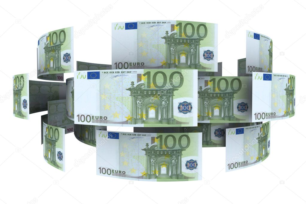Euro In Circulation Of Money 3d Rendering Stock Photo
