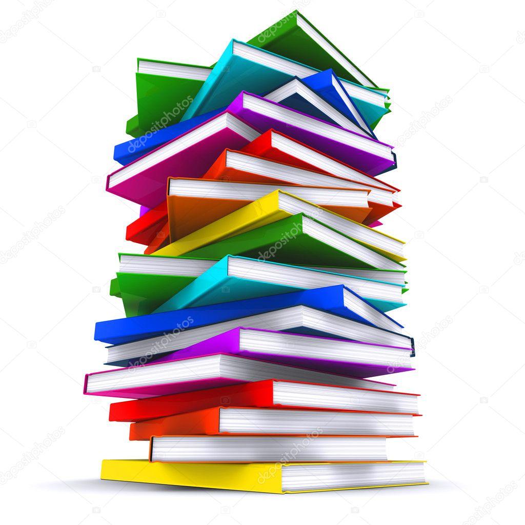 una pila de libros coloridos. Render 3D — Fotos de Stock © cherezoff ...