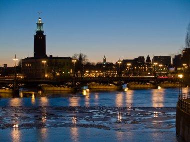 Night scene at Stockholm, Sweden