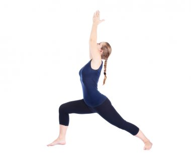 Yoga virabhadrasana I warrior pose