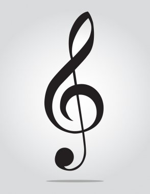 G Clef on gray background