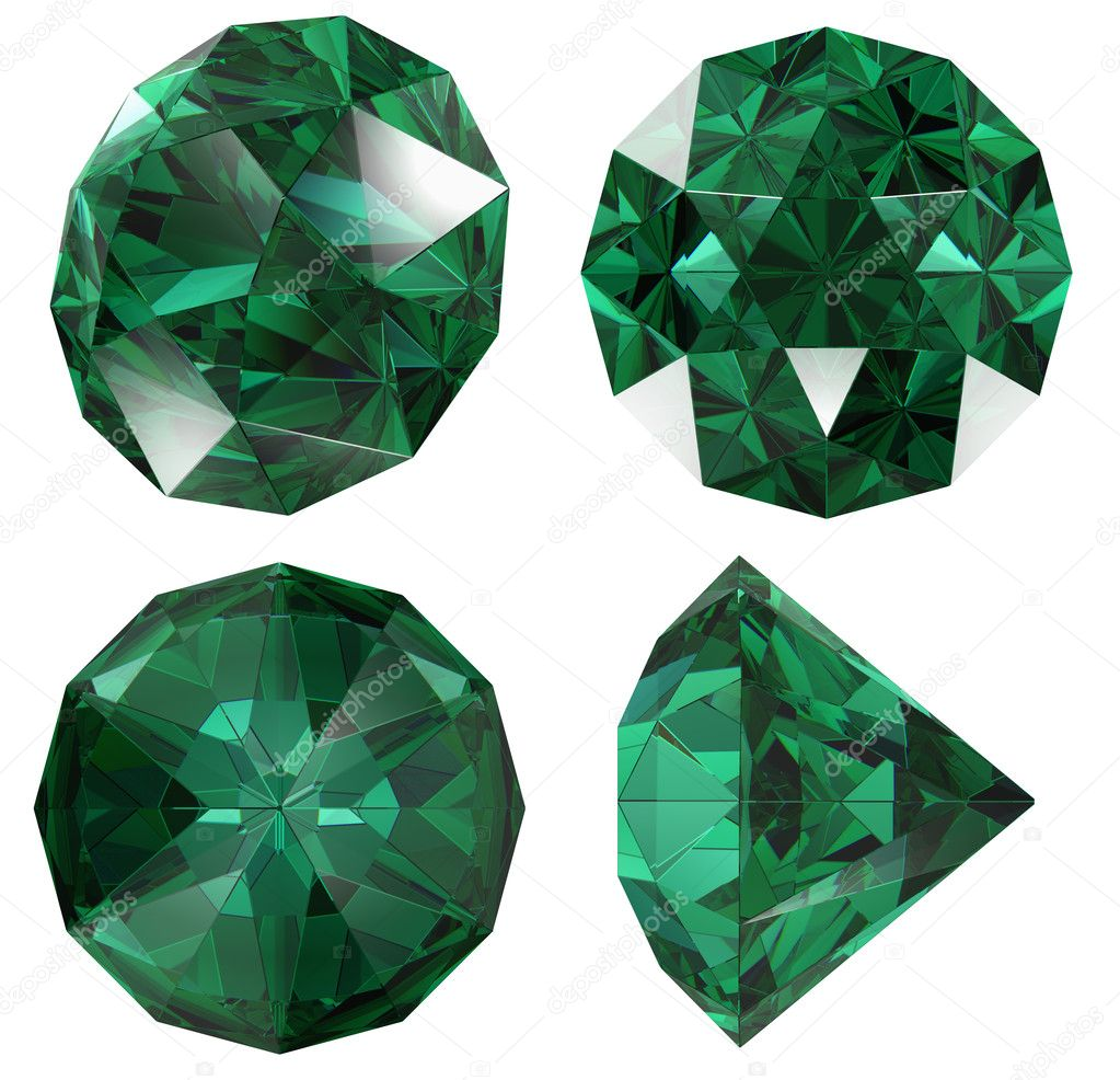 clipart jewel emerald a black isolated vector image background on