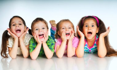 Small Laughing kids