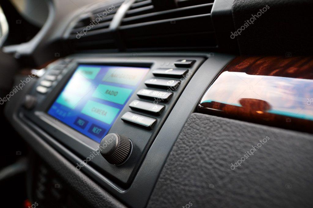Modern Luxury Cars Dashboard Stock Photo UltraONE - Car image sign of dashboardcar dashboard sign multifunction display stock photo royalty