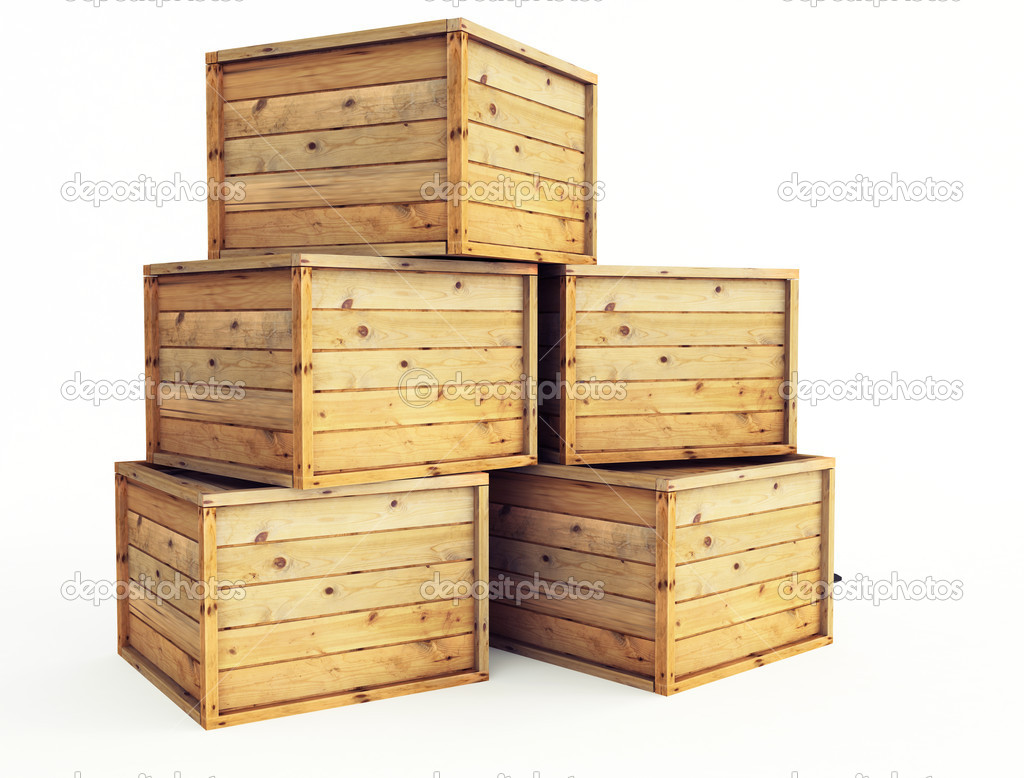 Several wooden crates stock photo bioraven 5573049 for Where to buy old crates