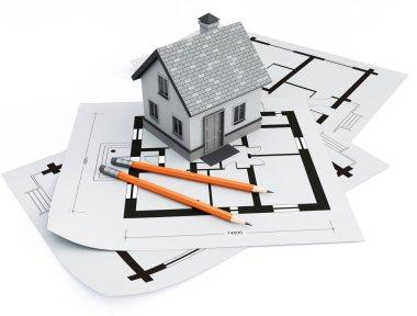House on architecture blueprints