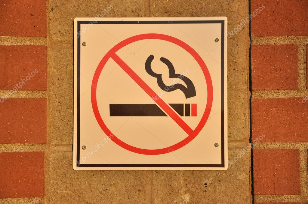 No smoking sign with yellow tone