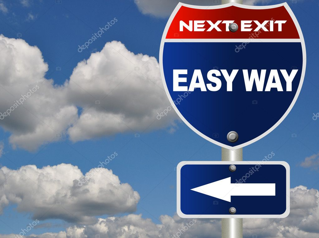 Easy way road sign