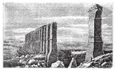 Karthago roman aquäduct Ruinen alte Gravur.