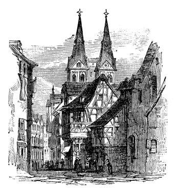 Boppard town, Rhein-Hunsruck-Kreis, Rhineland-Palatinate, German