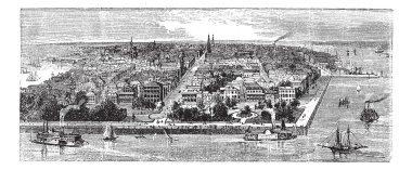 Charleston vintage engraving