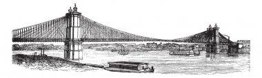 John A. Roebling Suspension Bridge, from Cincinnati, Ohio to Cov