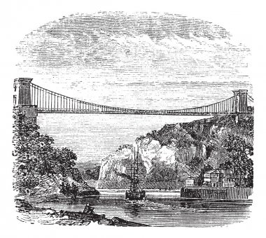 Clifton Suspension Bridge, in Clifton, Bristol to Leigh Woods, N
