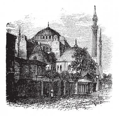 Ayasofya istanbul, Türkiye, Sofya'da antika gravür