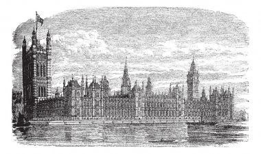 Palace of Westminster or Houses of Parliament in London England