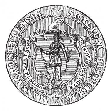 Great Seal of the Commonwealth of Massachusetts or the Seal of t