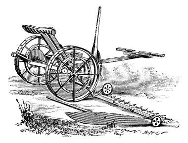 Reaper, vintage engraving