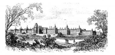 Morristown. insane asylum of the state of New Jersey, vintage en