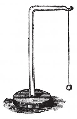 Electric Pendulum, vintage engraved illustration. Trousset encyclopedia (1886 - 1891). stock vector