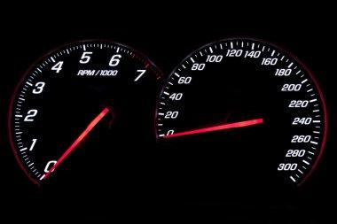 Speedometer and revcounter