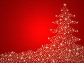 Fotografie vánoční stromeček pozadí s hvězdami