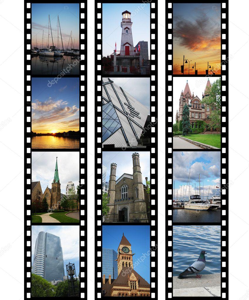 Three films with travel photos