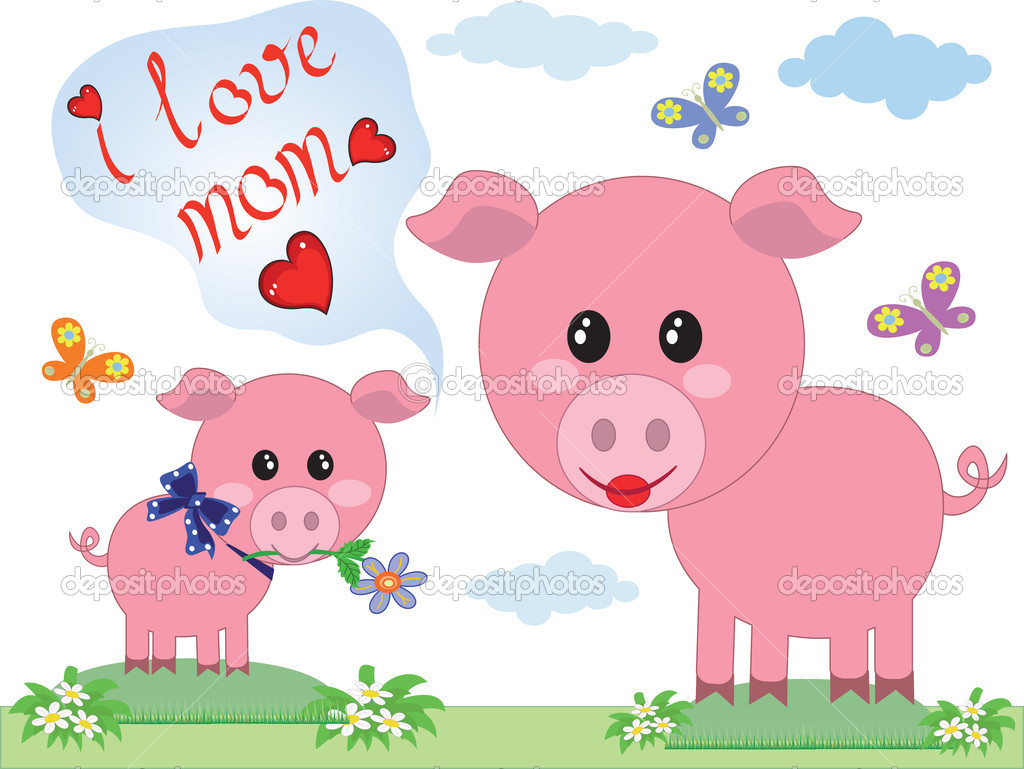 Mothers day,pigs