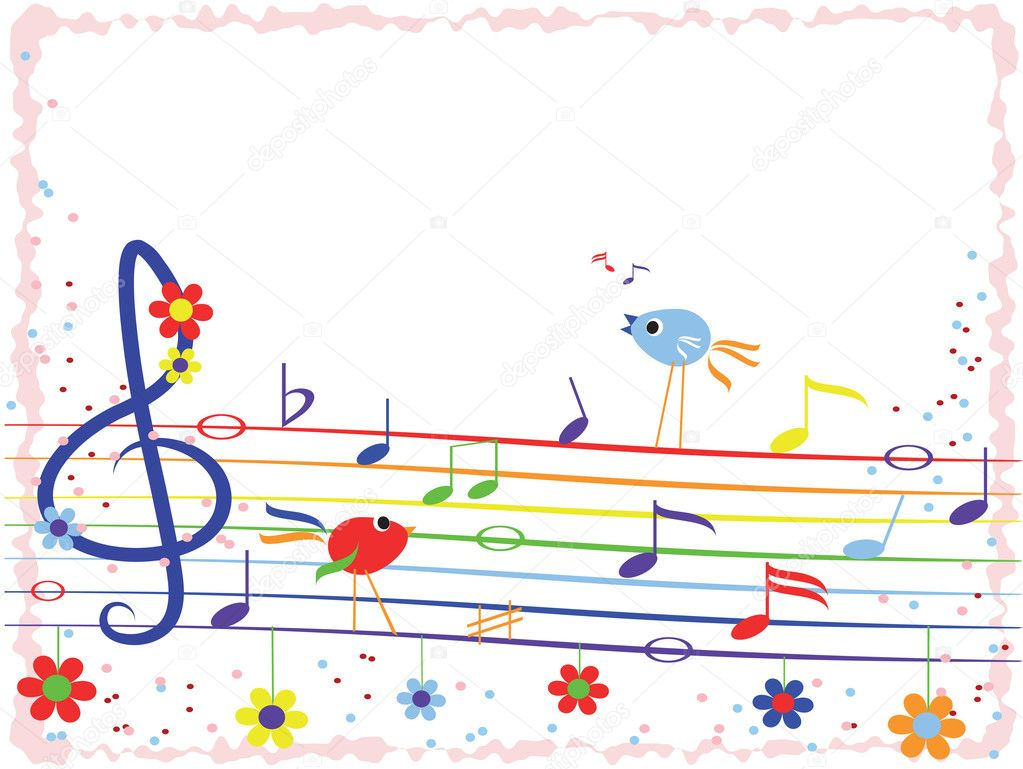 music rainbowframe stock vector 5738094 - Music Picture Frame