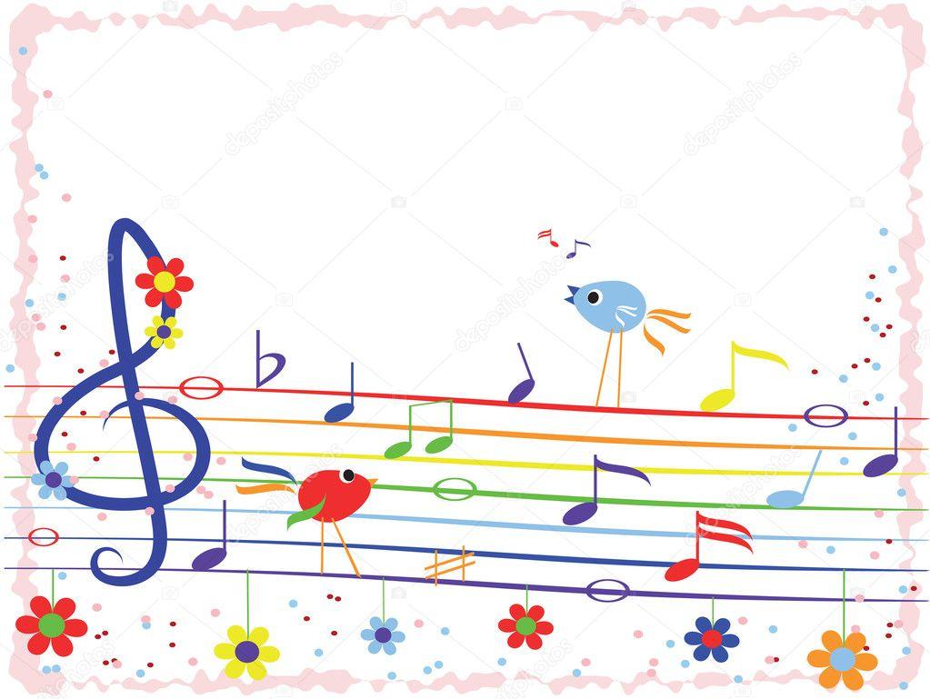 Music rainbow,frame — Stock Vector © Olaj775 #5738094