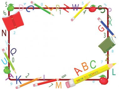 School frame,isolated. clip art vector