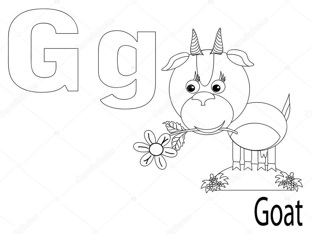 Färbung-Alphabet für Kinder g — Stockvektor © Olaj775 #6401091