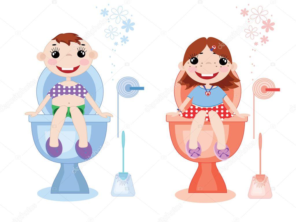 Рисунки высказываниями, картинки мальчик и девочка на туалет