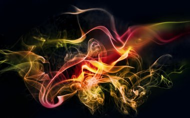 Colourful smoke