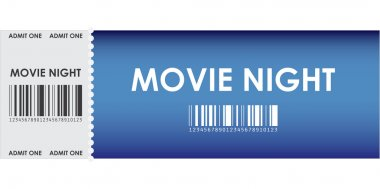 Special blue movie ticket