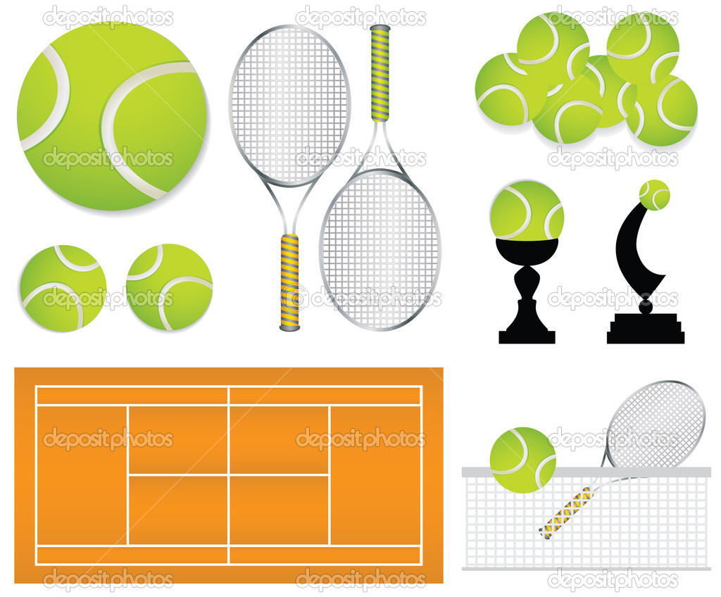 Tennis sport design elements