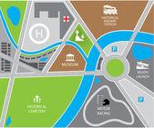 Fotografie Vector city map