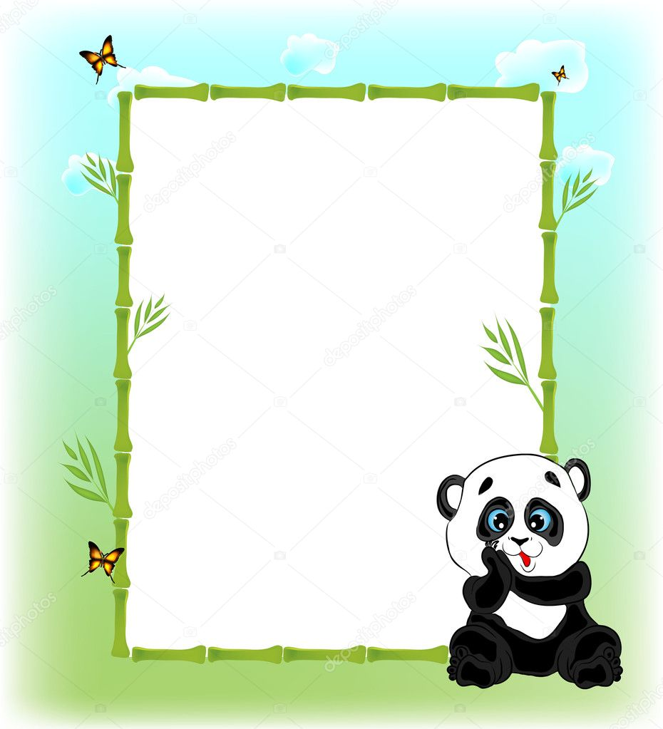 Funny Animal Cartoon Frame Stock Vector 169 Mistuk13 5954182
