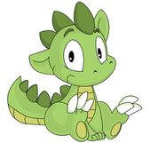 zelený drak karikatura