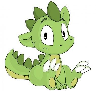 Green dragon cartoon