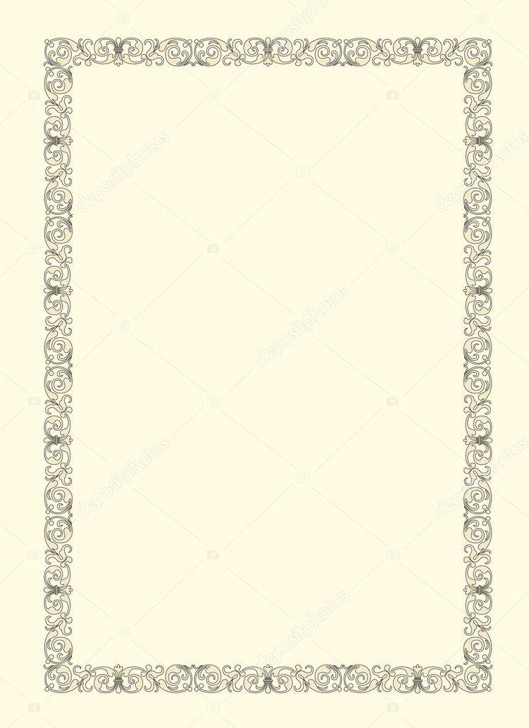 vector ornamental de marco de foto de época — Archivo Imágenes ...