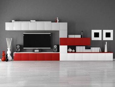 Minimalist empty living room