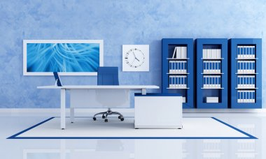 Contemporary blue office