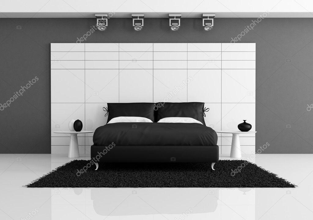 zwart-wit slaapkamer — Stockfoto © archideaphoto #5756690