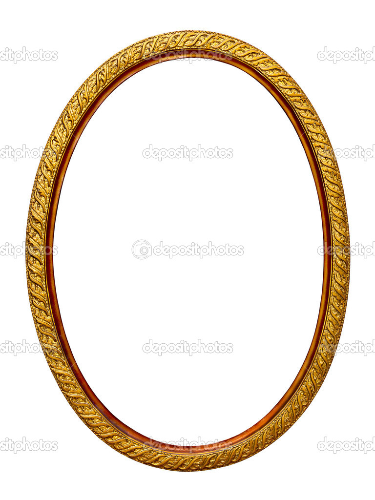 Gold-patterned frame for a picture