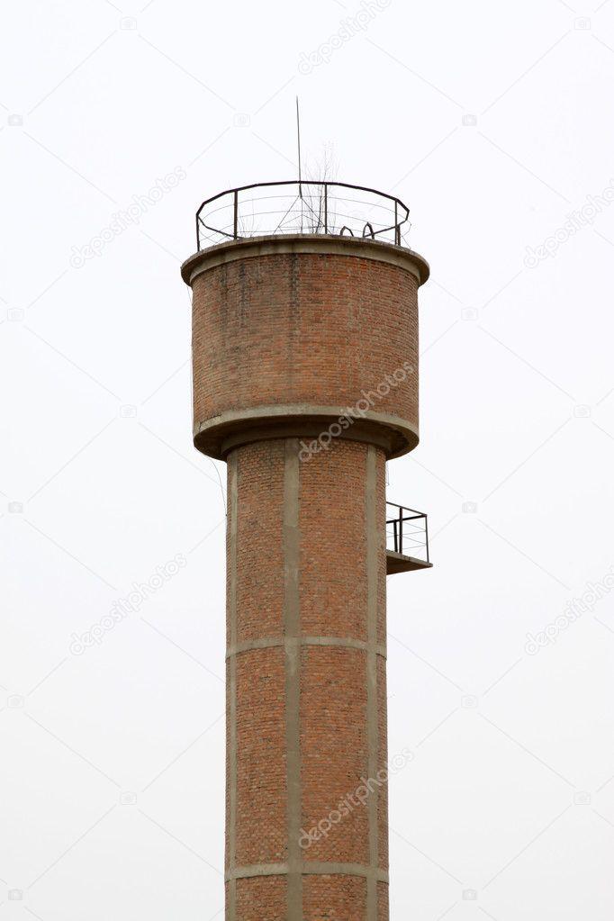 Водонапорная башня по серии из кирпича