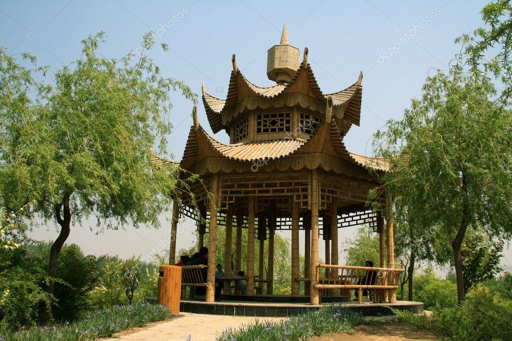 Bambus Pavillon Stockfoto C Lnzyx 6077006