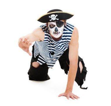 Portrait of cruel pirate