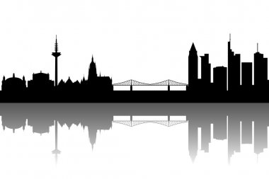 Frankfurt Skyline abstract