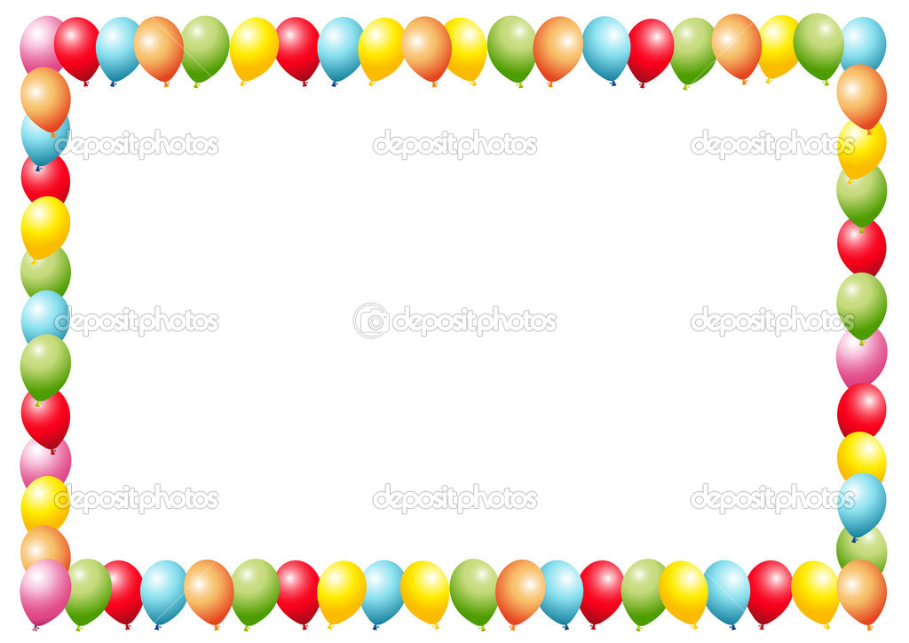 balloon frame isolated on white vector by hs photos