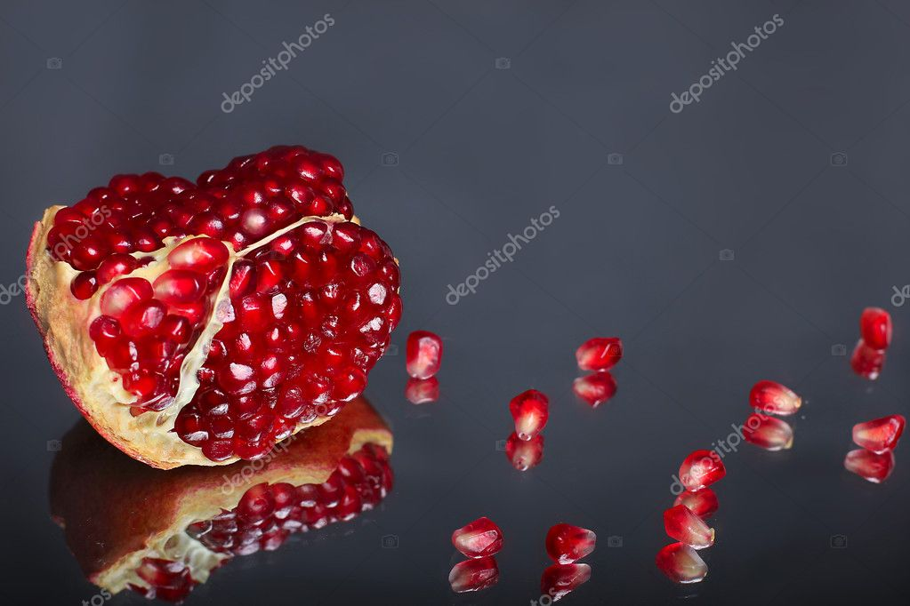 Part of pomegranate